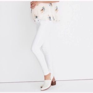 Madewell maternity white side panel skinny jean 27